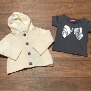 Other - Baby Sweater & NWOT T-shirt Bundle 12M